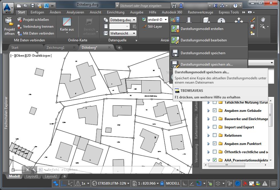 Beachten Sie Dabei, Dass Die Geodaten An Arbeitsplätzen Mit Einem AutoCAD,  AutoCAD Architecture Oder AutoCAD Civil 3D Nicht Sichtbar Sind.